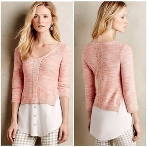 Anthropologie Moth aselin layered sweater
